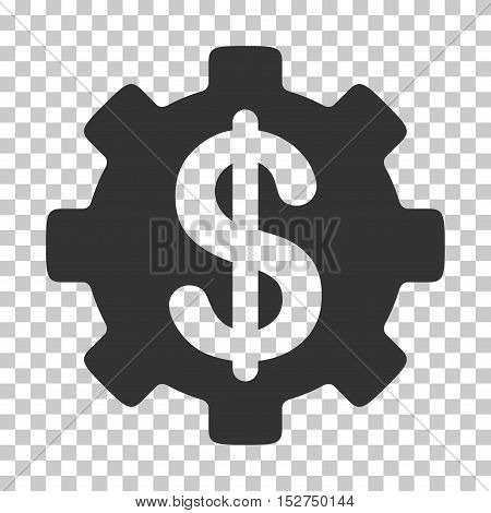 Gray Development Cost interface pictogram. Vector pictogram style is a flat symbol on chess transparent background.