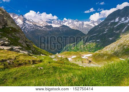 View From The Top Of The Susten Pass Mountain Road, Swiss Alps, Switzerland