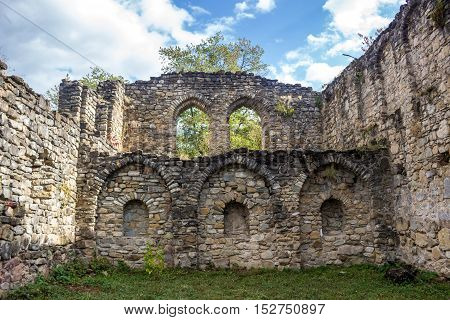 Ruins Of The Ikalto Academy Next To The Ikalto Monastery. The Academy Was Founded During King David