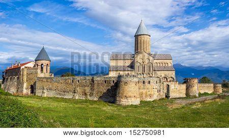 Panorama View Of Alaverdi Monastery - Georgian Eastern Orthodox Monastery In Kakhetia Region In East