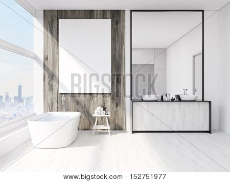 Bathroom Interior With Mirror