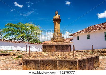 Simon Bolivar Bust In Barichara