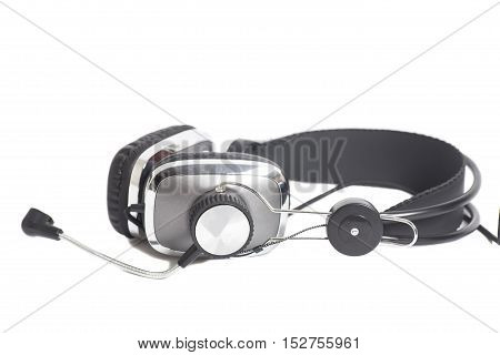 Headphones with Mic isolated on white background