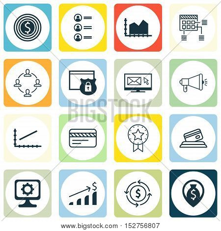 Set Of 16 Universal Editable Icons For Airport, Statistics And Computer Hardware Topics. Includes Ic