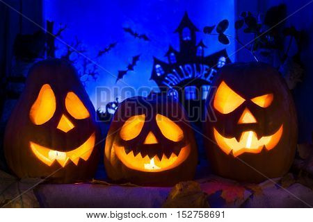 Pumpkins For Halloween. All Saints' Day.