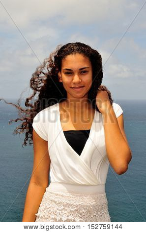 Beautiful Cape Verdean Girl With Curly Hair