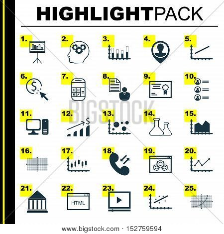 Set Of 25 Universal Editable Icons For Project Management, Advertising And Marketing Topics. Include