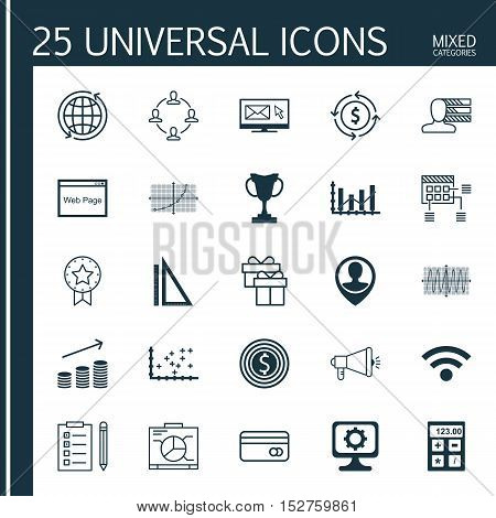 Set Of 25 Universal Editable Icons For Education, Project Management And Human Resources Topics. Inc