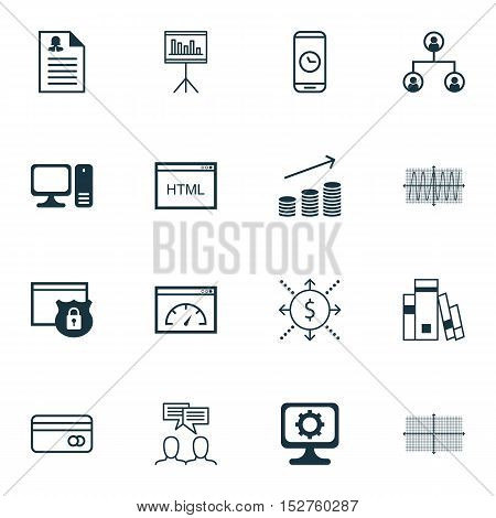 Set Of 16 Universal Editable Icons For Marketing, Advertising And Human Resources Topics. Includes I