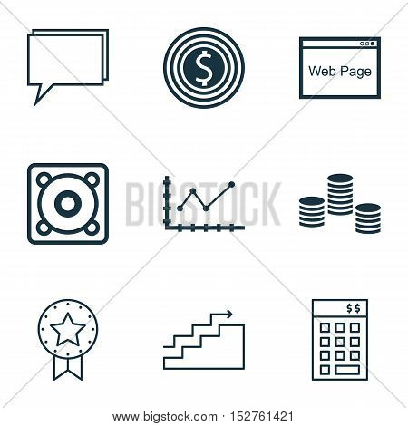 Set Of 9 Universal Editable Icons For Human Resources, Computer Hardware And Project Management Topi
