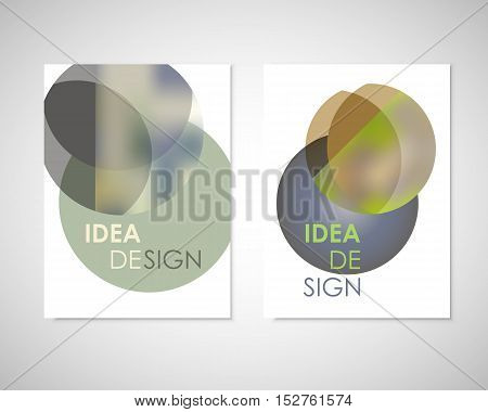 Abstract minimal geometric round circle shapes design background for you annual report, book, cover brochure, flyer or poster.
