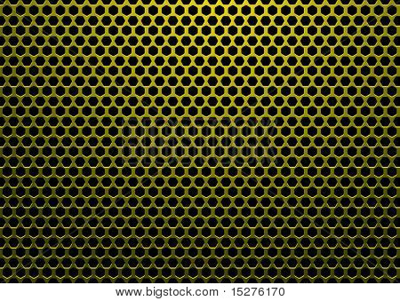 abstract background with hexagon shaped holes and black backdrop