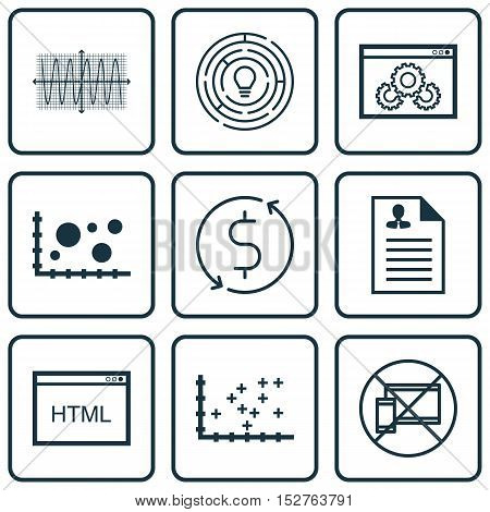Set Of 9 Universal Editable Icons For Advertising, Airport And Project Management Topics. Includes I