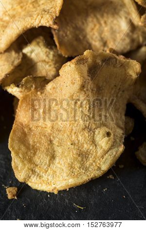 Organic Baked Celery Root Chips