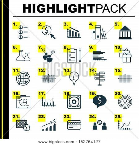 Set Of 25 Universal Editable Icons For Seo, Human Resources And School Topics. Includes Icons Such A