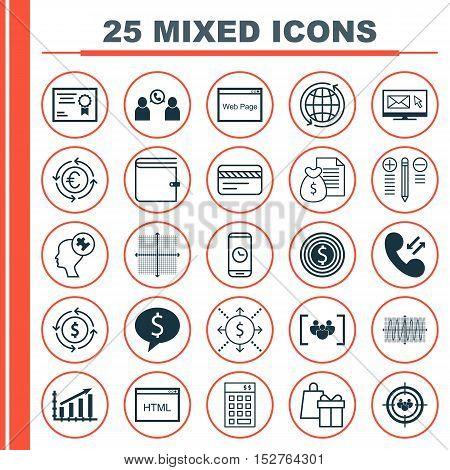 Set Of 25 Universal Editable Icons For School, Project Management And Hr Topics. Includes Icons Such