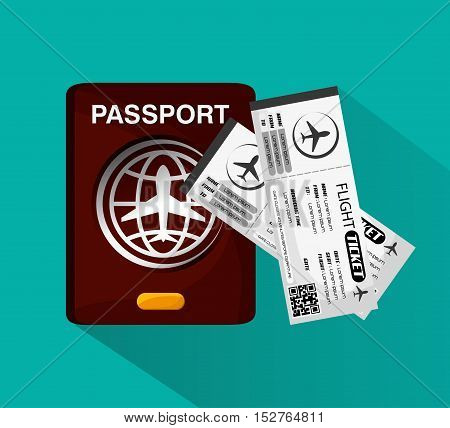 Tickets icon. Airport travel trip vacation and tourism theme. Colorful design. Vector illustration