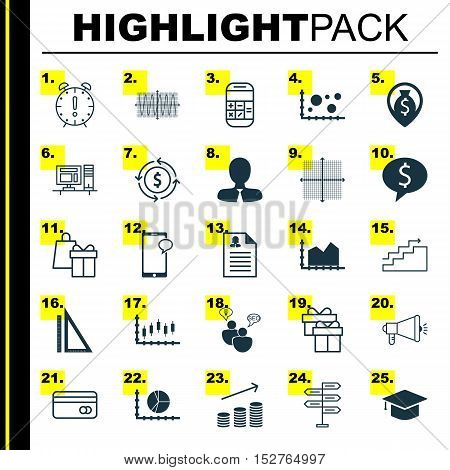 Set Of 25 Universal Editable Icons For Management, Human Resources And Statistics Topics. Includes I