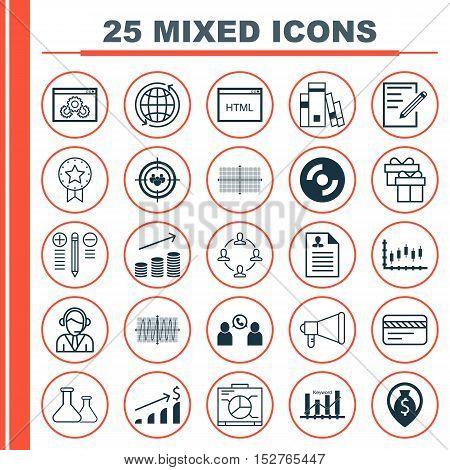 Set Of 25 Universal Editable Icons For Hr, Human Resources And Traveling Topics. Includes Icons Such