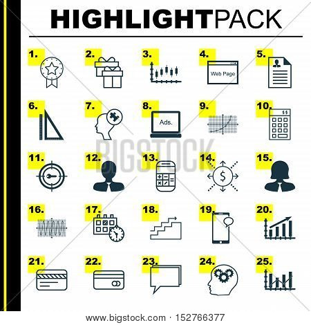 Set Of 25 Universal Editable Icons For Project Management, Travel And Seo Topics. Includes Icons Suc