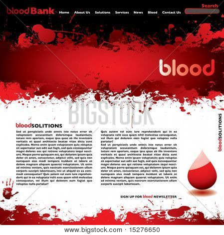Abstract blood concept background with room to add your own text