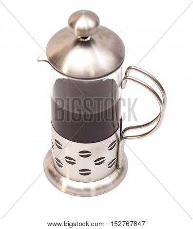 French Press Coffee or Tea Maker isolated on white background