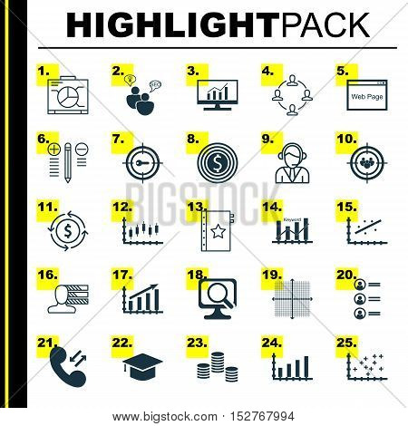 Set Of 25 Universal Editable Icons For Hr, Management And Human Resources Topics. Includes Icons Suc