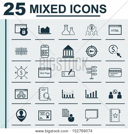 Set Of 25 Universal Editable Icons For Tourism, Business Management And Hr Topics. Includes Icons Su