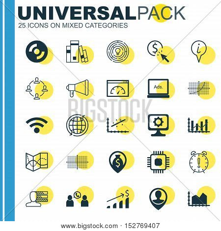 Set Of 25 Universal Editable Icons For Hr, Project Management And Transportation Topics. Includes Ic
