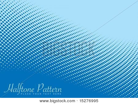 Shades of blue halftone background with ocean wave effect