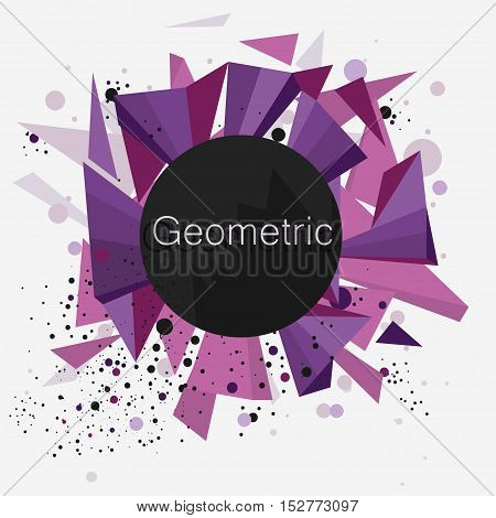 Geometric abstract Vector Background, Triangles and dots on white backdrop for Business Presentations, Sale web banner Application Cover, Brochure Design
