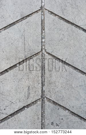 Surface of line concrete floor with vertical arrow background