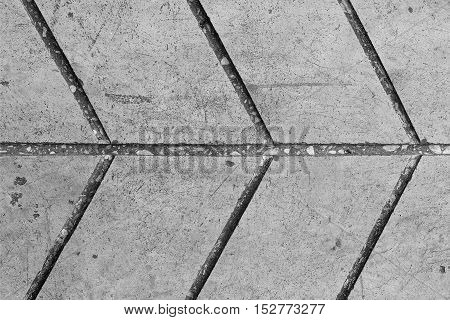 Surface of line concrete floor with horizontal arrow background