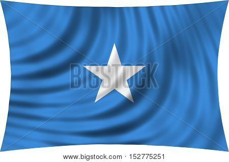 Somali national official flag. African patriotic symbol banner element background. Correct colors. Flag of Somalia waving isolated on white 3d illustration