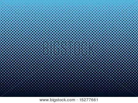 Seamless halftone dot pattern background with blue