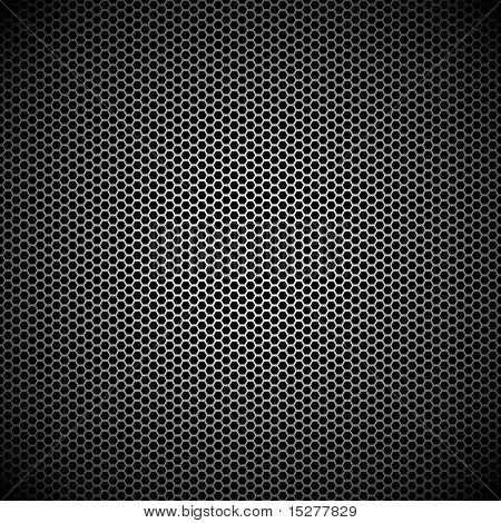 Fondo metal hexagonal con fondo de pantalla ideal de reflexión de la luz