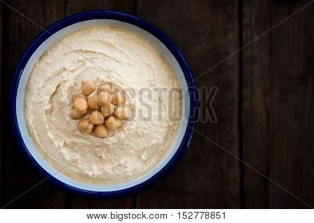 Classic Hummus Made From  Chickpeas
