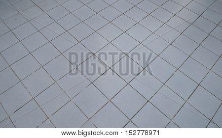 Top view of Tiled floor texture background.