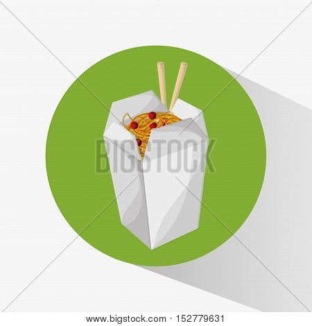 Noodle icon. Fast food menu and market theme. Colorful design. Vector illustration