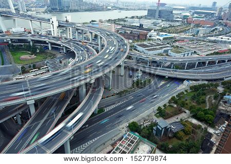 Bird View At Asia's Largest Across The Rivers In A Spiral Bridge