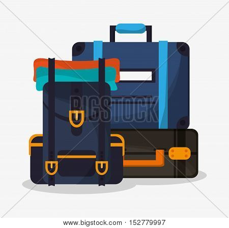 Baggage icon. travel trip vacation and tourism theme. Colorful design. Vector illustration