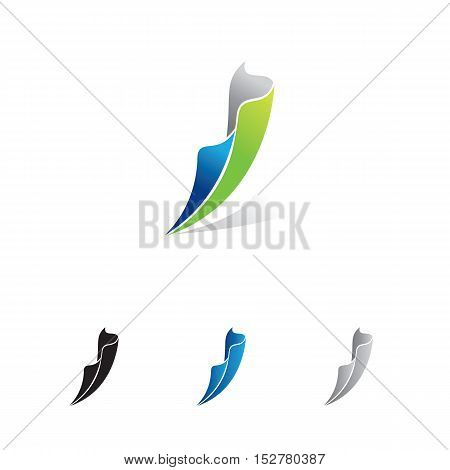 multipurpose abstract swoosh - flagging business logo