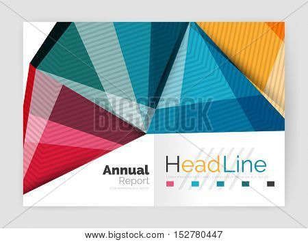 Business abstract geometric financial report brochure template. Vector
