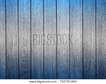 Wooden panel with concept deep blue color texture and background.