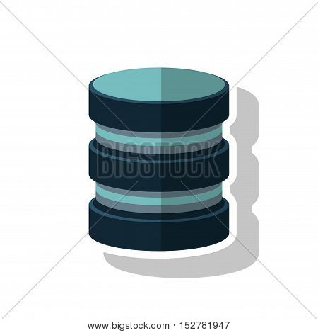 Device icon. Data base center and web hosting theme. Isolated design. Vector illustration