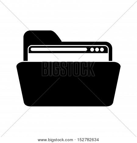 Website inside file icon. Data base center and web hosting theme. Isolated design. Vector illustration
