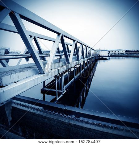 Modern urban sewage treatment plant plant equipment.