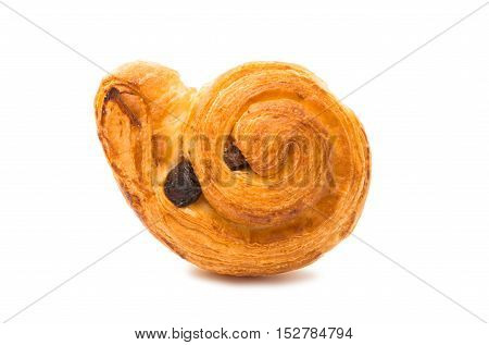 Fresh tasty buns isolated on white background
