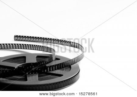 Film reel, isolated on white background