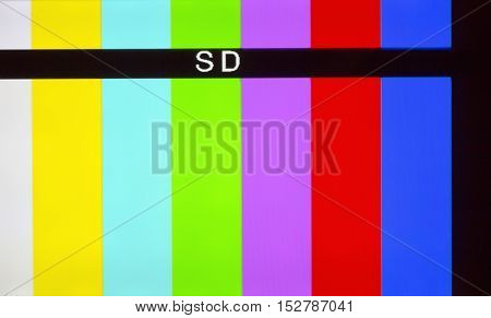 Colored grid broadcasting close-up. Vertical colored stripes.